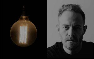 Background - Mann und Lampe