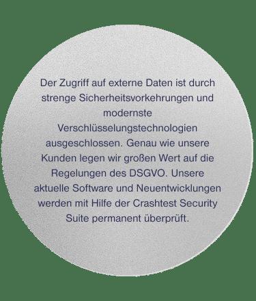 Kreis mit Text - DSGVO konform